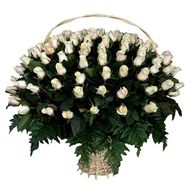 Basket of 101 imported roses - flowers and bouquets on roza.zp.ua