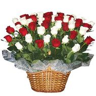 Basket of flowers from 45 roses - flowers and bouquets on roza.zp.ua