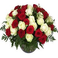 Basket of 51 roses - flowers and bouquets on roza.zp.ua