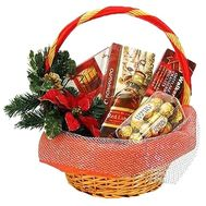 Корзинка на Новый год - цветы и букеты на roza.zp.ua