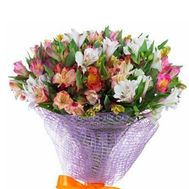 """Bouquet of 21 alstroemerias"" in the online flower shop roza.zp.ua"