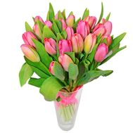 Bouquet of 25 tulips - flowers and bouquets on roza.zp.ua