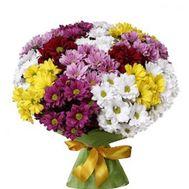 Букет из 17 хризантем - цветы и букеты на roza.zp.ua