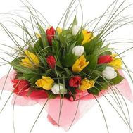 Bouquet of 21 tulips - flowers and bouquets on roza.zp.ua