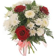 Inexpensive bouquet of flowers - flowers and bouquets on roza.zp.ua