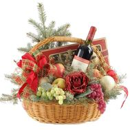 Basket for the New Year - flowers and bouquets on roza.zp.ua