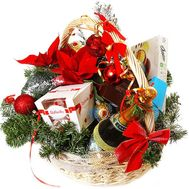 New Year gift basket - flowers and bouquets on roza.zp.ua
