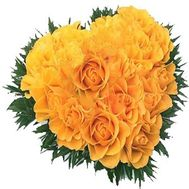 """Heart of yellow roses"" in the online flower shop roza.zp.ua"