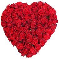 Сердце из 101 розы - цветы и букеты на roza.zp.ua