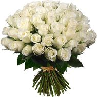 Bouquet of 65 white roses - flowers and bouquets on roza.zp.ua