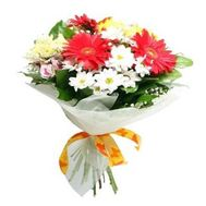 Bright bouquet of flowers - flowers and bouquets on roza.zp.ua
