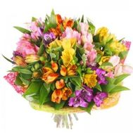 Bouquet of 15 alstromeries - flowers and bouquets on roza.zp.ua