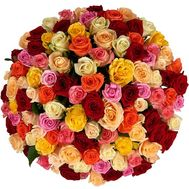 Multicolored roses per piece - flowers and bouquets on roza.zp.ua
