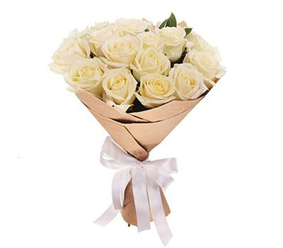 """""""Букет из 19 белых роз"""" в интернет-магазине цветов roza.zp.ua"""
