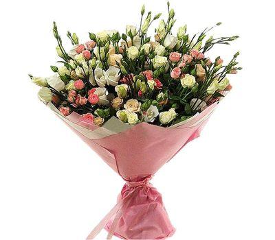"""""""Букет из 19 кустовых роз и 10 эустом"""" в интернет-магазине цветов roza.zp.ua"""