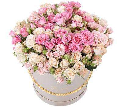 """""""Модная коробка кустовых роз"""" в интернет-магазине цветов roza.zp.ua"""