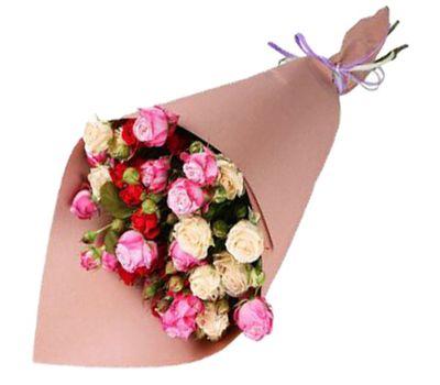 """""""Небольшой букет из кустовых роз"""" в интернет-магазине цветов roza.zp.ua"""