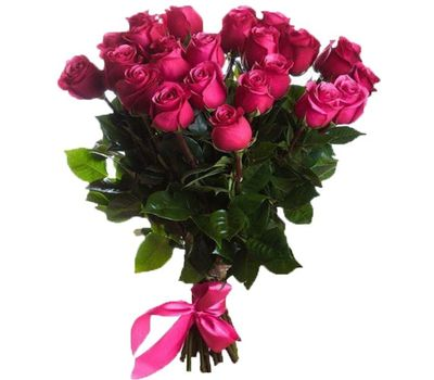 """""""Розовые импортные розы в букете"""" в интернет-магазине цветов roza.zp.ua"""