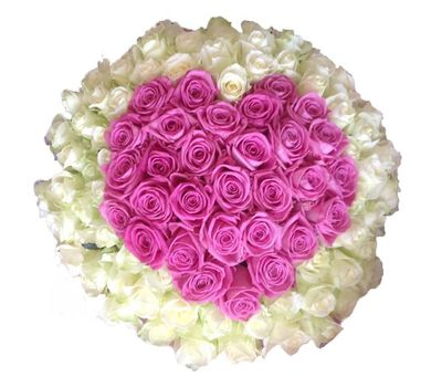 """""""Букет сердце из 101 розы"""" в интернет-магазине цветов roza.zp.ua"""