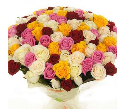 """""""Букет из 101 разноцветной розы"""" в интернет-магазине цветов roza.zp.ua"""