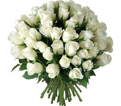 """""""Букет из 55 белых импортных роз"""" в интернет-магазине цветов roza.zp.ua"""
