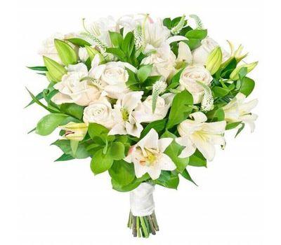 """""""Букет цветов из лилий и роз"""" в интернет-магазине цветов roza.zp.ua"""