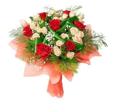 """""""Букет из разноцветных роз"""" в интернет-магазине цветов roza.zp.ua"""