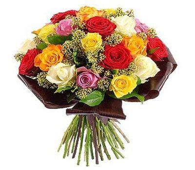 """""""Букет цветов из 21 разноцветной розы"""" в интернет-магазине цветов roza.zp.ua"""