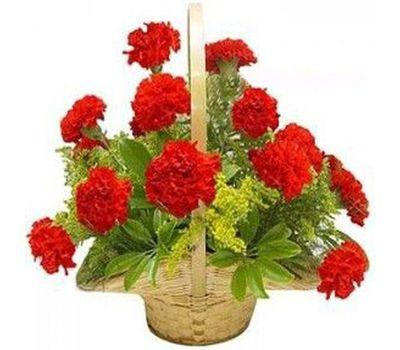"""""""Корзина цветов из 19 гвоздик"""" в интернет-магазине цветов roza.zp.ua"""