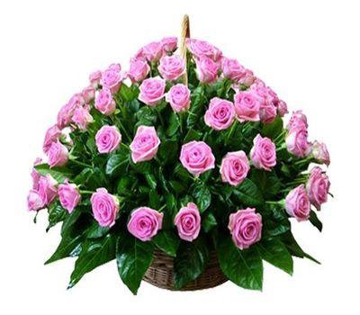 """""""Корзина цветов из 75 розовых роз"""" в интернет-магазине цветов roza.zp.ua"""