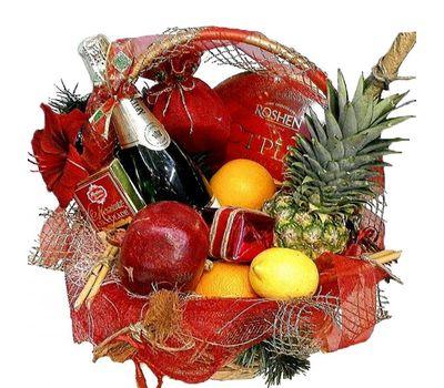 """""""Новогодняя подарочная корзина"""" в интернет-магазине цветов roza.zp.ua"""