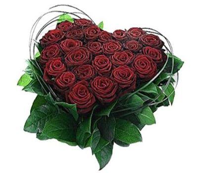 """""""Композиция в форме сердца из 25 красных роз"""" в интернет-магазине цветов roza.zp.ua"""