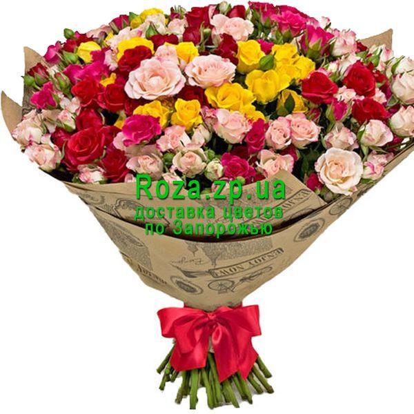Buy large bouquet of bush roses order on ➦ Roza.zp.ua