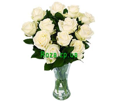 """""""11 white roses"""" in the online flower shop roza.zp.ua"""