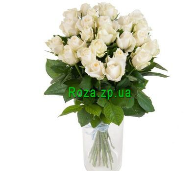 """Bouquet of 25 white roses"" in the online flower shop roza.zp.ua"
