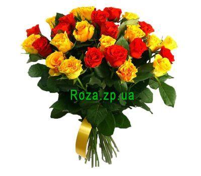 """""""29 красных и желтых роз"""" в интернет-магазине цветов roza.zp.ua"""