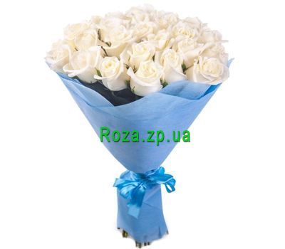 """Bouquet of 35 white roses"" in the online flower shop roza.zp.ua"