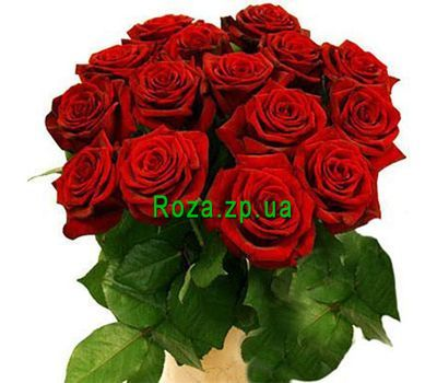 """Bouquet of 15 red roses"" in the online flower shop roza.zp.ua"