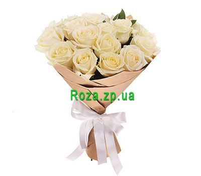 """Bouquet of 19 white roses"" in the online flower shop roza.zp.ua"