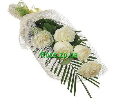 """""""5 белых роз"""" в интернет-магазине цветов roza.zp.ua"""