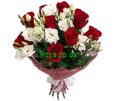 """""""9 roses and 6 eustoms"""" in the online flower shop roza.zp.ua"""