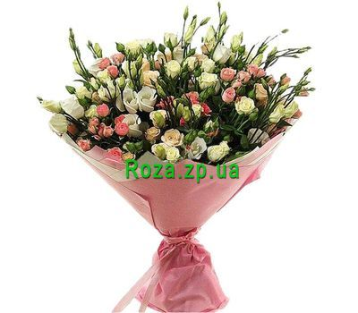 """Bouquet of 19 bush roses and 10 caustic roses"" in the online flower shop roza.zp.ua"