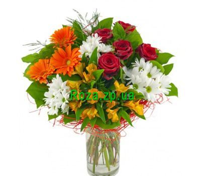 """Beautiful bouquet of mixes"" in the online flower shop roza.zp.ua"