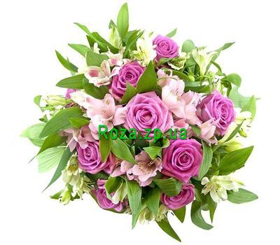 """""""Bouquet of flowers roses and alstroemerias"""" in the online flower shop roza.zp.ua"""