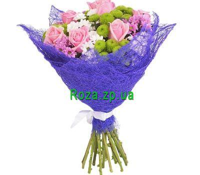"""""""Букет из роз и хризантем"""" в интернет-магазине цветов roza.zp.ua"""