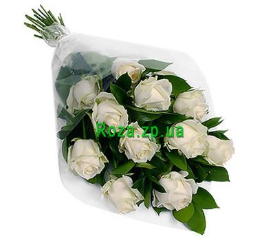 """Bouquet of 11 white roses"" in the online flower shop roza.zp.ua"
