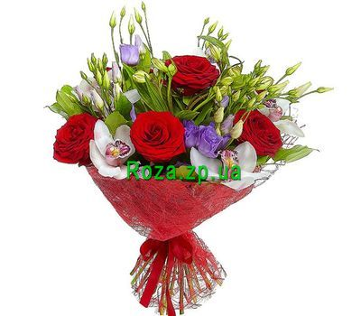 """Bouquet with orchids and eustoma"" in the online flower shop roza.zp.ua"