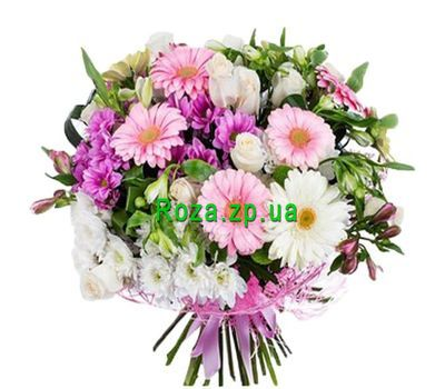 """Bouquet of gerberas, roses, chrysanthemums and alstroemerias"" in the online flower shop roza.zp.ua"