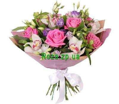 """""""Букет из орхидей, эустом, роз и альстромерий"""" в интернет-магазине цветов roza.zp.ua"""