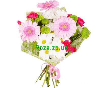 """""""Букетик из гербер, хризантем и гвоздик"""" в интернет-магазине цветов roza.zp.ua"""
